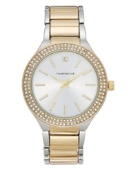 Charter Club Women's Two Tone Pave Bracelet Watch 38Mm Only At Macy's Two Tone