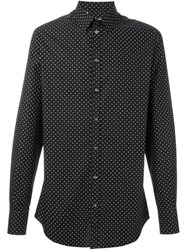 Dolce And Gabbana Polka Dot Print Shirt Black
