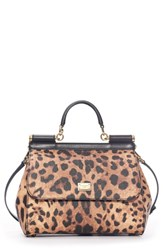 Dolce And Gabbana 'Miss Sicily' Top Handle Leather Satchel