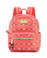 Betsey Johnson Studded Signature Mini Backpack Guava