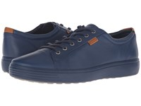 Ecco Soft Vii Sneaker True Navy True Navy Men's Lace Up Casual Shoes Blue