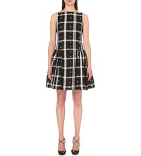 Anglomania Degas Checked Cotton Dress Black White Dot