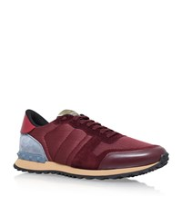 Valentino Mesh Combo Sneakers Male Wine