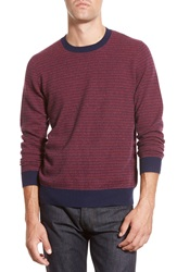 Bonobos Dash Pattern Cashmere Crewneck Sweater Red