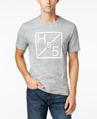 Tommy Hilfiger Men's Frameworks Graphic Print T Shirt Ozone Grey Heather