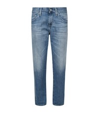 Ag Jeans The Ex Boyfriend Slim Roll Up Female Blue