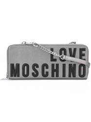 Love Moschino Logo Shoulder Bag Grey