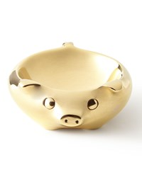 Pig Ring Bowl Jonathan Adler Gold