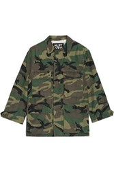 Nlst Camouflage Print Cotton Blend Jacket Multi