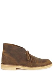 Clarks Brown Tarnished Leather Boots Light Brown