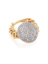 Phillips House Affair Diamond And 14K Yellow Gold Infinity Chain Link Ring