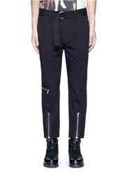 3.1 Phillip Lim Zip D Ring Belt Twill Pants Black