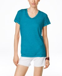 Inc International Concepts Short Sleeve Washed T Shirt Only At Macy's Vivid Blue