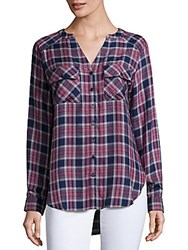Saks Fifth Avenue Plaid Long Sleeve Shirt Kent