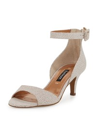Kay Unger Sullia Leather Ankle Wrap Sandal Nude