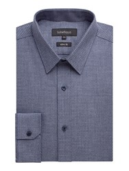Limehaus Denim Micro Jacquard Shirt Blue