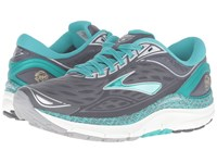 Brooks Transcend 3 Anthracite Ceramic Silver Gold Women's Running Shoes Gray