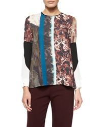 Clover Canyon Distressed Wallpaper Long Sleeve Top