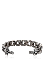Emanuele Bicocchi Chunky Chain Sterling Silver Cross Cuff