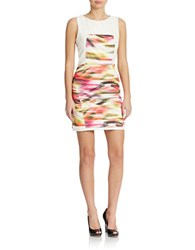 Romeo And Juliet Couture Paint Print Dress White Pink