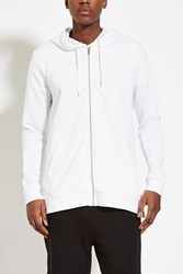 Forever 21 Zip Up Hoodie White