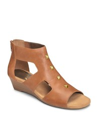Aerosoles Layette Leather Sandals Natural