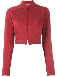 Romeo Gigli Vintage Cropped Jacket Red