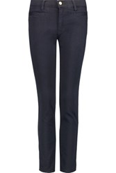 Mih Jeans M.I.H Paris Cropped Mid Rise Straight Leg Midnight Blue