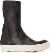Rick Owens Black Basket Creeper High Top Sneakers