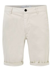 Topman Stone Stretch Slim Chino Shorts