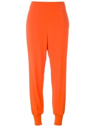 Stella Mccartney Tapered Trousers Yellow And Orange