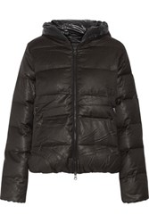 Duvetica Thiadue Quilted Shell Down Coat Charcoal