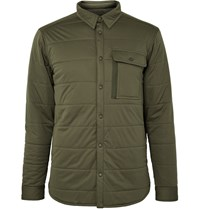 Snow Peak Quilted Stretch Jersey Shirt Jacket Green