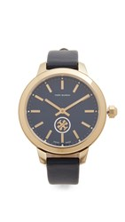 Tory Burch Collins Watch Navy Gold