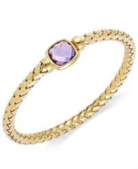 The Fifth Season By Roberto Coin 18K Gold Over Sterling Silver Bracelet Amethyst Polished Woven Bracelet 6 Ct. T.W.