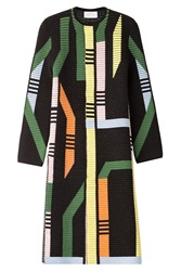Peter Pilotto Printed Coat With Wool And Angora Multicolor