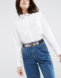 Asos Chain Detail Elastic Waist Belt Black