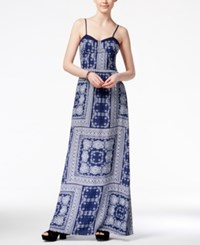 American Rag Printed Maxi Dress Only At Macy's Blue Combo
