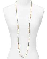 Dylan Gray Wood Textured Station Necklace 46 Bloomingdale's Exclusive Two Tone