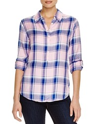 Prive Plaid Shirt Pink Blue Plaid