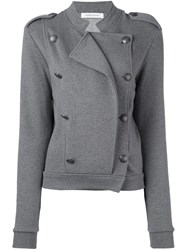 Balmain Pierre Double Breasted Fitted Jacket Grey