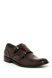 John Varvatos Star Dress Double Monk Strap Oxford Brown