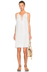 Nili Lotan Ruched Halter Dress In White