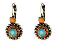 Gypsy Soule Cre28 Gold Orange Turquoise Earring Red