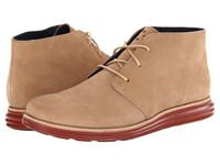 Cole Haan Lunargrand Chukka Milkshake Waterproof Suede Burnt Henna Men's Lace Up Boots Tan