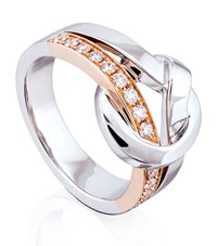 Boodles Contrast Knot Ring Female Rose Gold