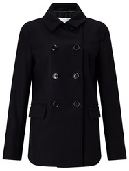 John Lewis Double Breasted Pea Coat Black