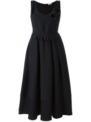 Fendi Flower Applique Dress Black