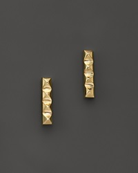 Zoe Chicco 14K Yellow Gold Spiked Bar Stud Earrings