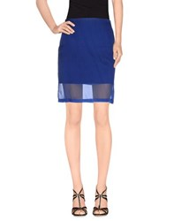 Unique Skirts Knee Length Skirts Women Blue